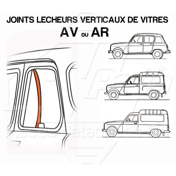 JOINTS LECHEURS VERTICAUX DE VITRES R4 AV OU AR