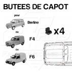 BUTEES CAOUTCHOUC DE CAPOT