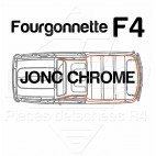 JONC CHROME TOUR DE TOIT R4 4L F4