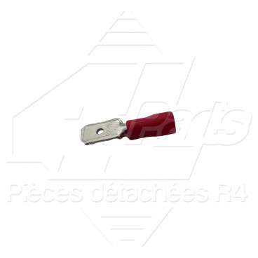 COSSE PLATE MALE 0,5-1,5mm² ROUGE