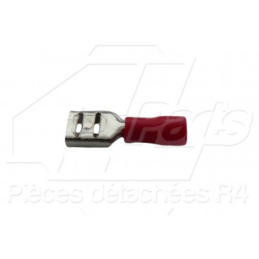 COSSE PLATE FEMELLE 0,5-1,5mm² ROUGE