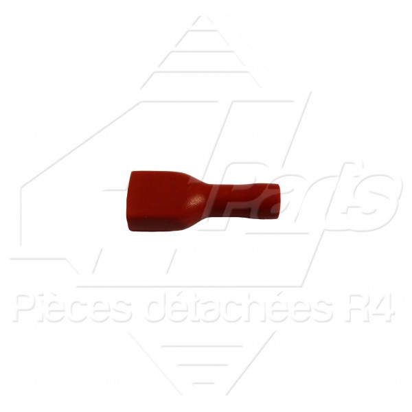 COSSE PLATE FEMELLE ISOLEE 0,5-1,5mm² ROUGE