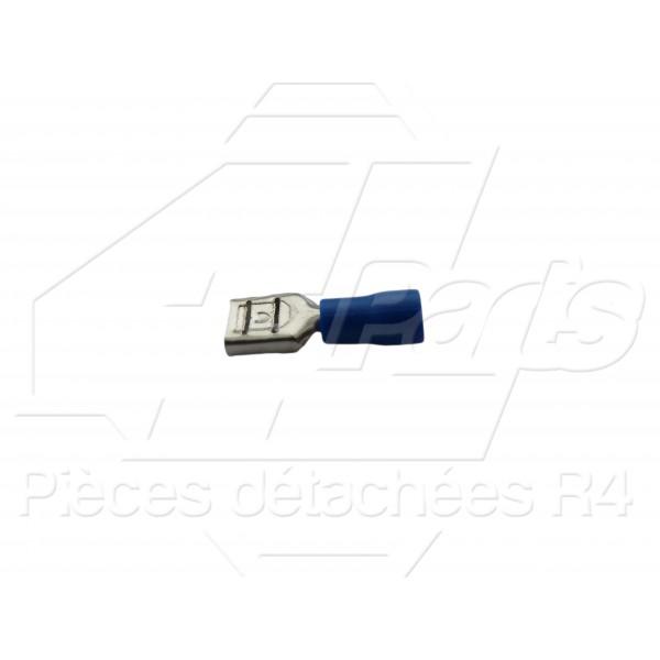 COSSE PLATE FEMELLE 1,5-2,5mm² BLEUE
