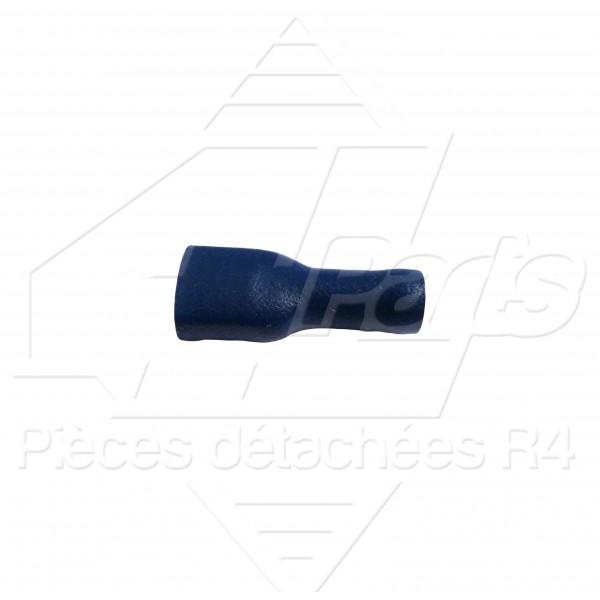 COSSE PLATE FEMELLE ISOLEE 1,5-2,5mm² BLEUE