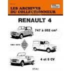 REVUE TECHNIQUE 745 A 852 cm3 DE 1961-1975